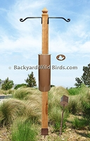 Post Raccoon Proof Bird Pole Kit