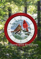 Cardinal Singing Bird Clock