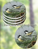 Chickadee Coaster Set