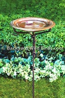 Solid Copper Bird Bath