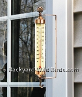 Weathered Copper Thermometer