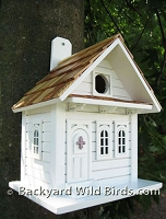 White Cottage Birdhouse
