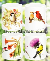 Wild Bird Coffee Mugs Set