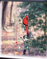 Window Thermometer Songbird