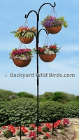 Wrought Iron Hanging Plant Pole