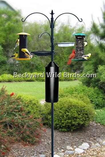 Bird Feeder Station Pole