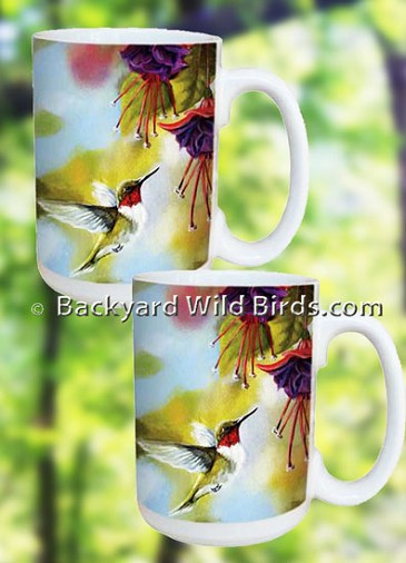 Hummingbird Coffee Mug Set