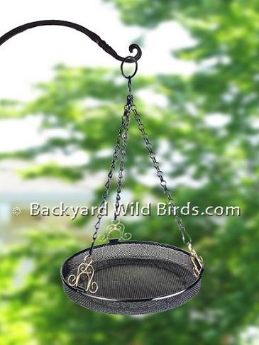 Hanging Tray Bird Feeder At Backyard Wild Birds