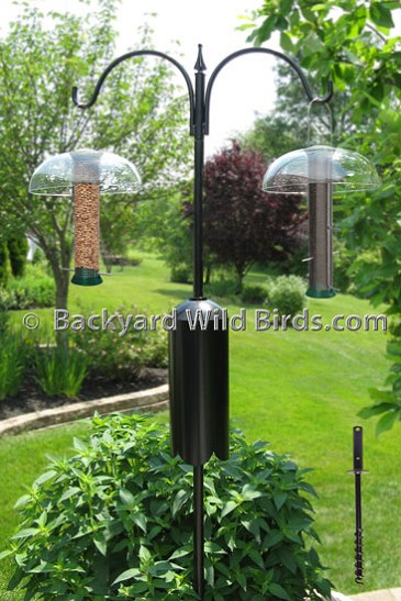 Bird Feeder Pole System B1 At Backyard Wild Birds