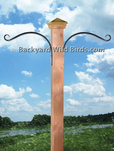 "Bird Pole Post 12"" Hanger Arms"