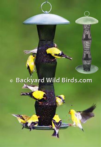 down finch feeder bird feeders upside products thistle