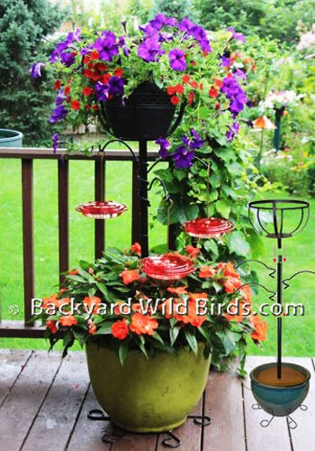 Deck Planter Hummingbird Feeder