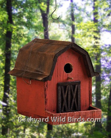 Red Barn Birdhouse