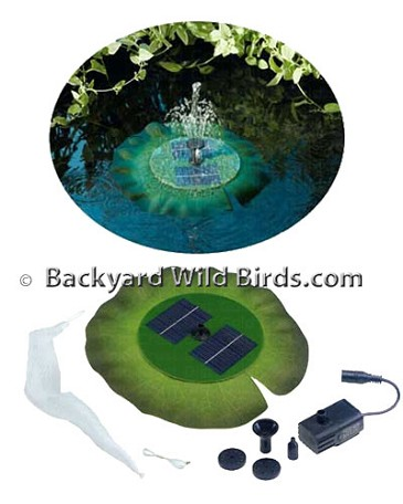 Solar Lily Pond Fountain