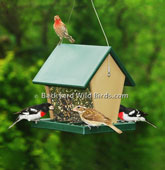 Recycled Hopper Bird Feeder