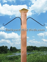 Bird Pole Post Hanger Arms