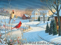 Cardinals in Winter Puzzle