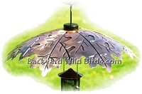 Copper Bird Feeder Baffle