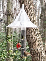 Hanging Baffle Tube Bird Feeder