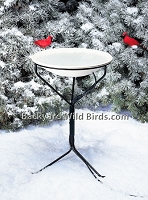 Heated Bird Bath With Metal Stand