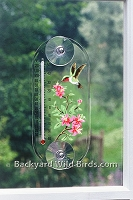 Hummingbird Window Thermometer
