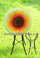 Yellow Sunflower Bird Bath