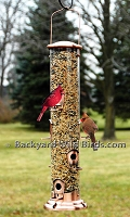 Copper Tube Bird Feeder