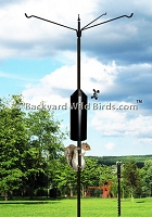 Squirrel Proof Bird Pole Triple Arm