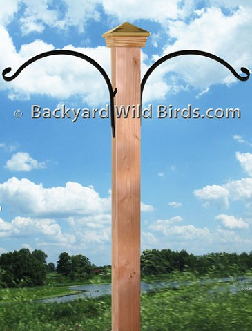 Bird Pole Post Curved Arms